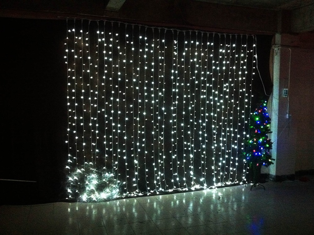 3mx3m 360led waterfall led string outdoor christmas. Black Bedroom Furniture Sets. Home Design Ideas
