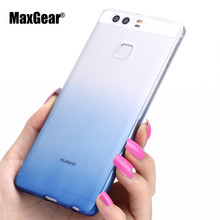 Ultra-thin Transparent Soft TPU Case Huawei P8 P9 Plus Lite Silicon Gradient Protective Cover Phone Shell - Aplus Technology Co.,Ltd store