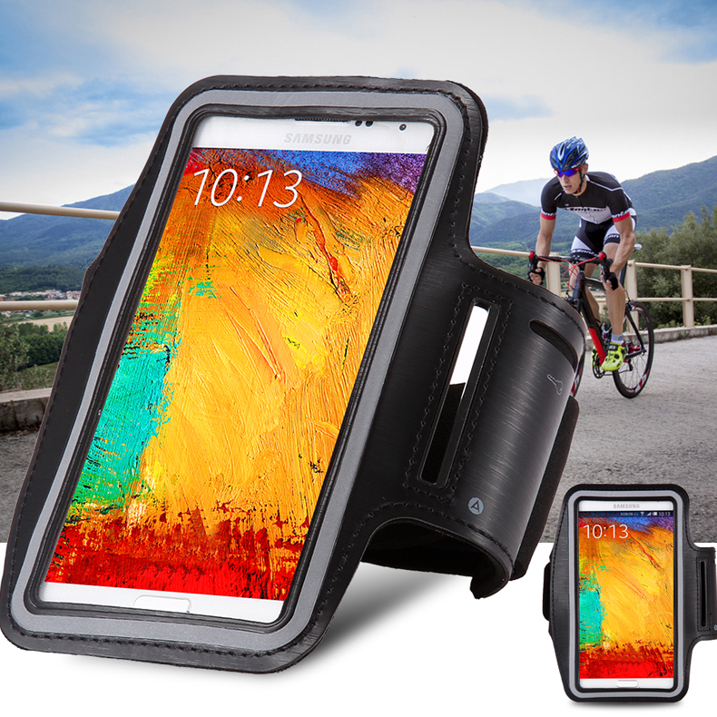 General Waterproof Sports Running Arm Band Leather Case For Sony Z1/Z2/Z3/For LG G3/G4/ For Samsung A7 Holder Pouch Belt Cover(China (Mainland))