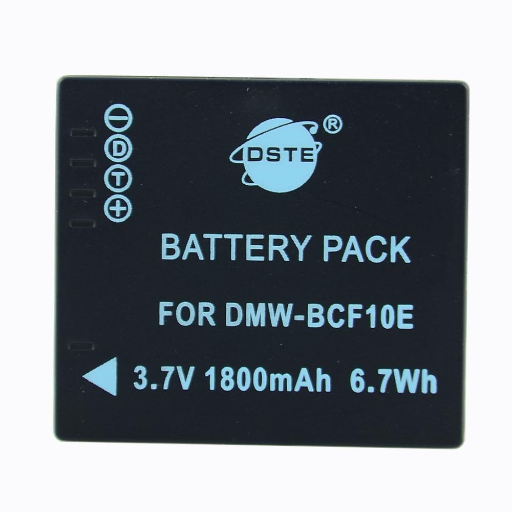 DSTE 1600 mAh DMW-BCG10E Rechargeable Battery For Panasonic ZR1 ZR3 ZS1 ZS3 ZS10 TZ6 TZ7 Leica Lux20