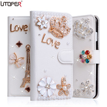 Buy Doogee X3 Luxury Wallet Stand Flip PU Leather Diamond Bowknot Case Doogee X3 Handmade Rhinestone Cover Bling Phone Bags for $6.99 in AliExpress store