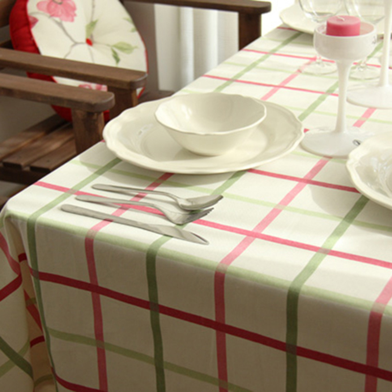 High Quality Cotton Wedding Table Cloth Round Kitchen Dining Dustproof Customized Any Size Tablecloth(China (Mainland))