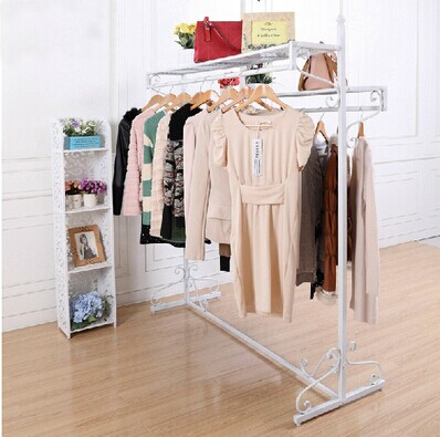 Здесь можно купить  Cheap clothes rack hanger floor coat rack hanger fashion double rod hanger  Мебель