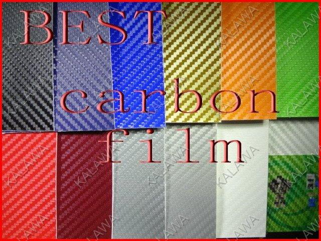 1 Roll BEST SERIES  20c 1.52*30M bubble free 3D carbon fibre film (carbon fiber vinyl car wrap)--color option FREESHIP
