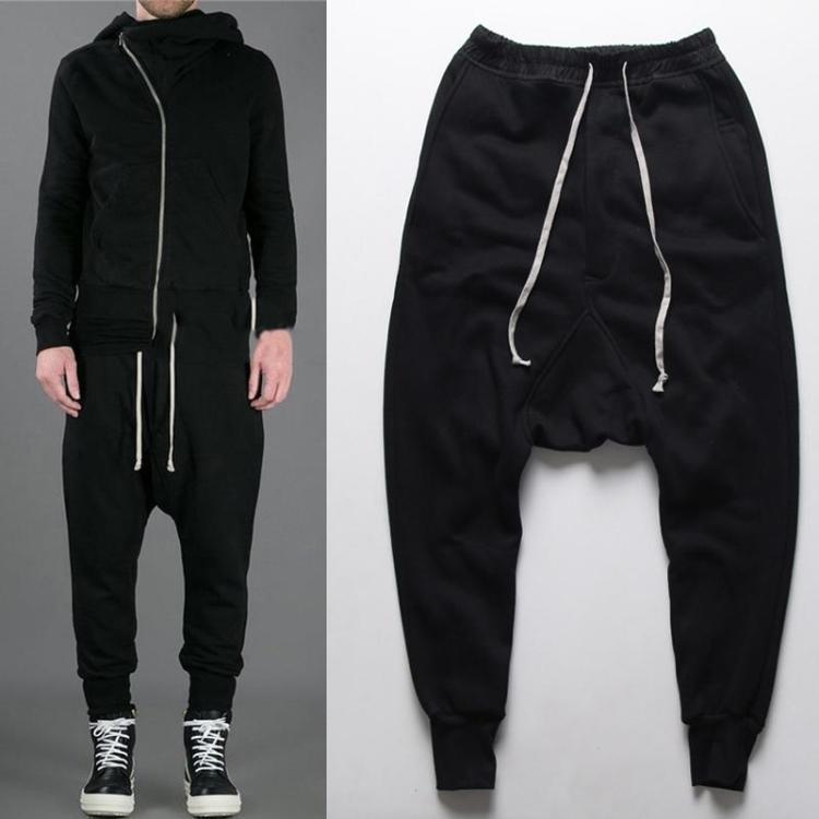 mens joggers Casual sports trousers harem pants men black fashion swag dance drop crotch hip hop sweat pants sweatpants for men(China (Mainland))