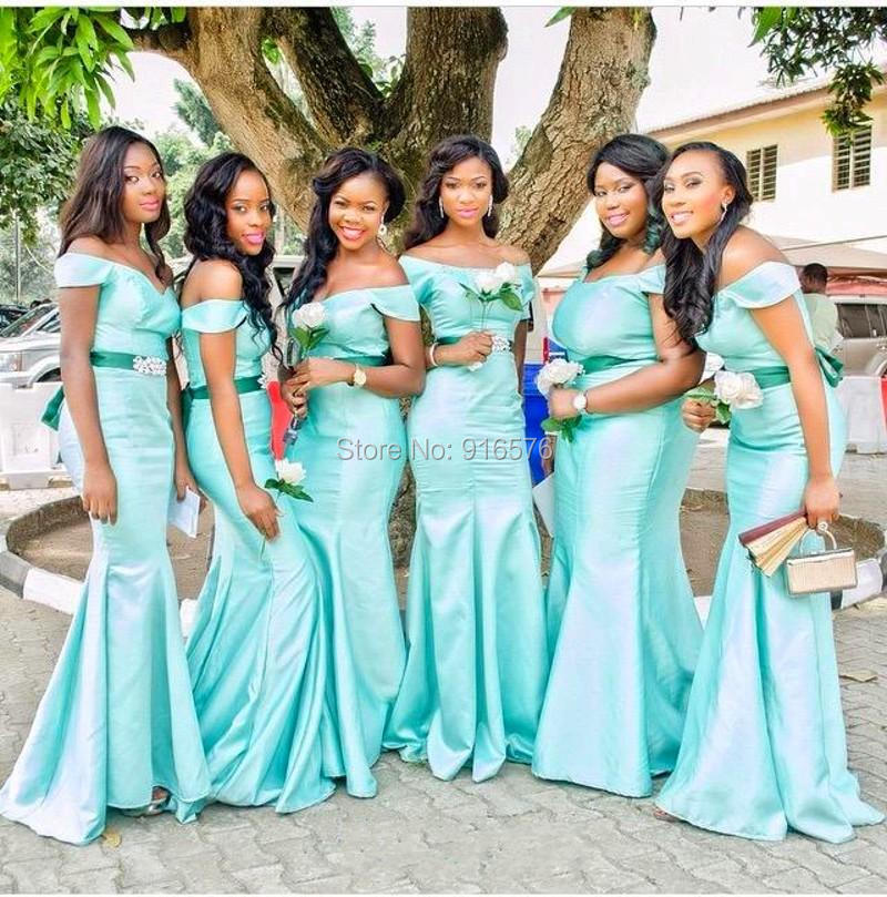 Latest 2015 mint green mermaid bridesmaid dresses fashion for Maid of honor wedding dresses