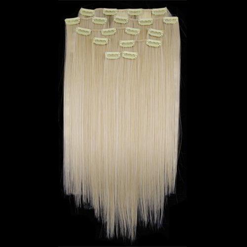 """Здесь можно купить  5 x (8 24"""" #60 Lightest Blonde Straight Full Head Clip In Synthetic Hair  Волосы и аксессуары"""