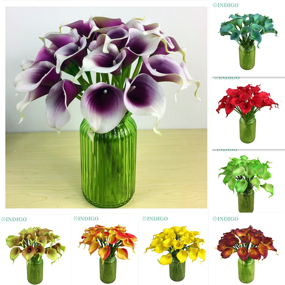 Calla Lily - Mini Size PU Real Touch Calla Home Decorative Flower Artificial Flower Wedding Flower Party Hotel Office Calla Lily(China (Mainland))