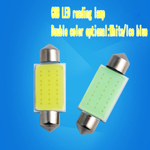 2pcs/lot Wholesale Car Led Reading Lights Festoon C5W COB 31MM 36MM 39MM Bulbs White Over Head Glove Box Reading Lamp