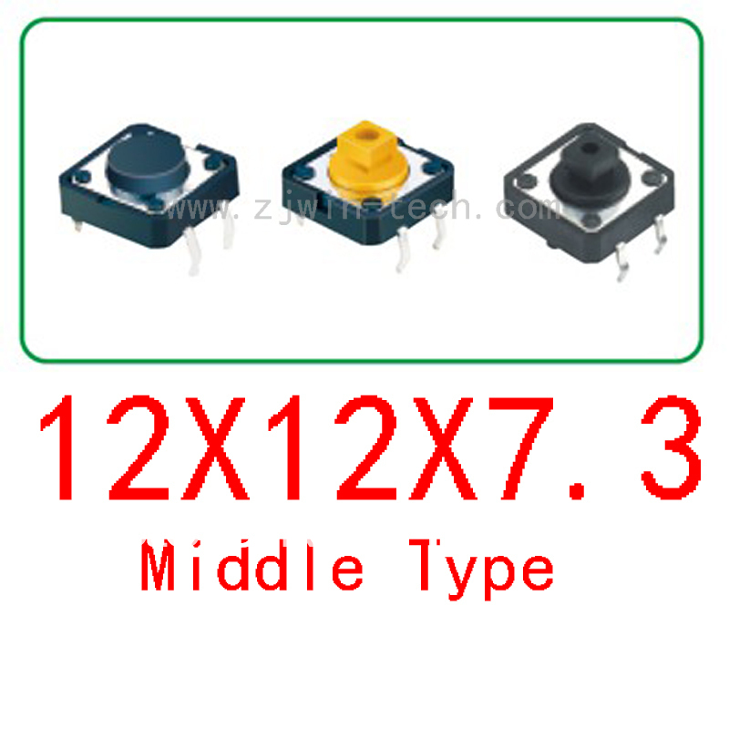 Free shipping 100pcs/lot size 12X12X7.3 push button Tact Switch<br><br>Aliexpress