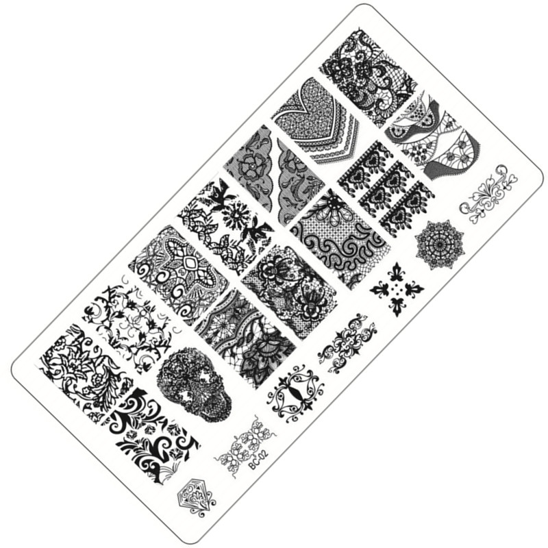 1pc 10 Designs Available Lace Starfish & Shell Negative Space Leaves Flowers Animals Nail Template(China (Mainland))