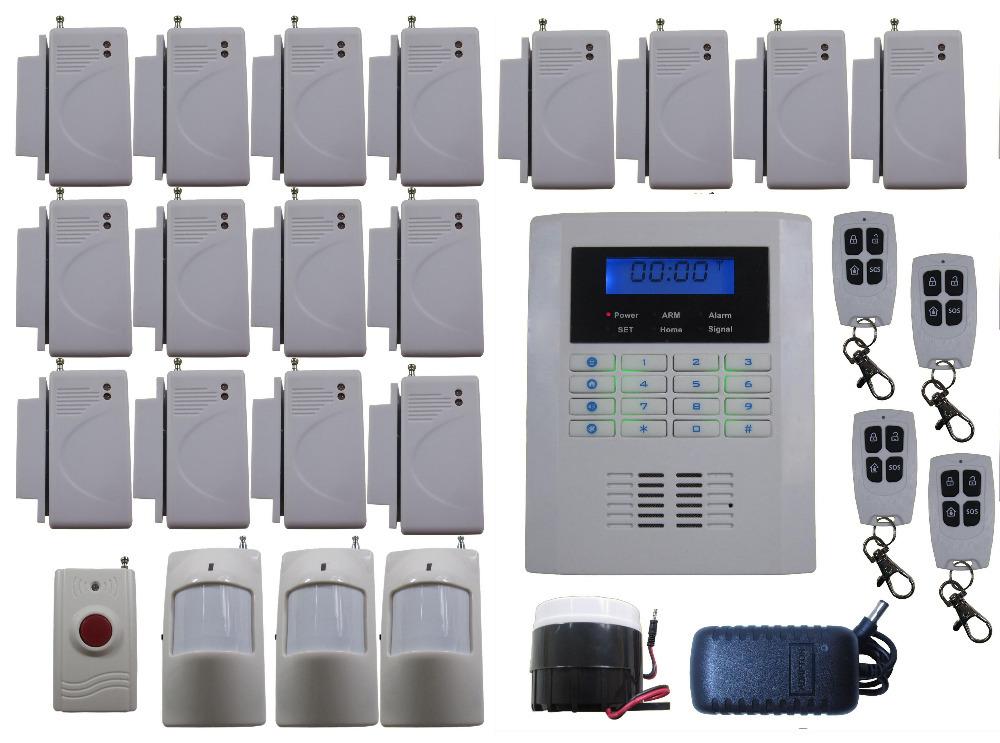 K38 Quad-Bands GSM & Telephone Line Dual Net Wireless & Wired Home House Alarm Burglar Anti-Thief System Auto Dial Easy Set(China (Mainland))