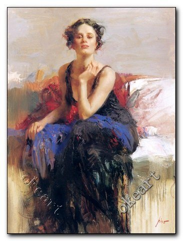 Free shipping Blue reflections pino Portrait art print modern home decor stores famous artists paintings prints decorative 0058(China (Mainland))