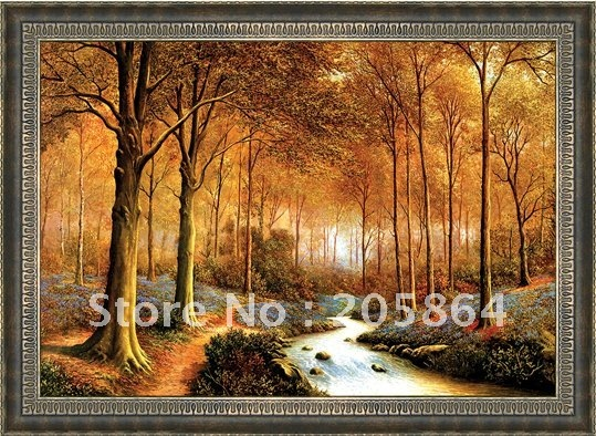 Free shipping middle size wall gobelin tapestries,Forest style decorative wall picture