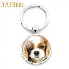 Tafree cão macio vidro cabochão chaveiro inteligente paciente e miúdo-friendly bulldog francês chaveiro masculino feminino jóias dg12(China)