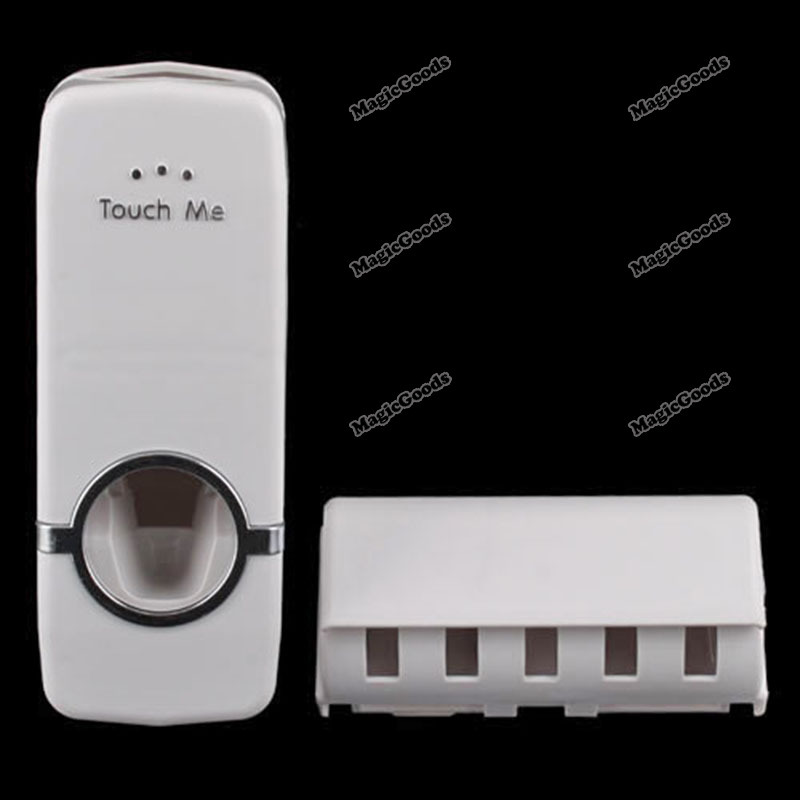 Portable Hands Free Automatic Toothpaste Dispenser And Brush Holder Touch Set(China (Mainland))