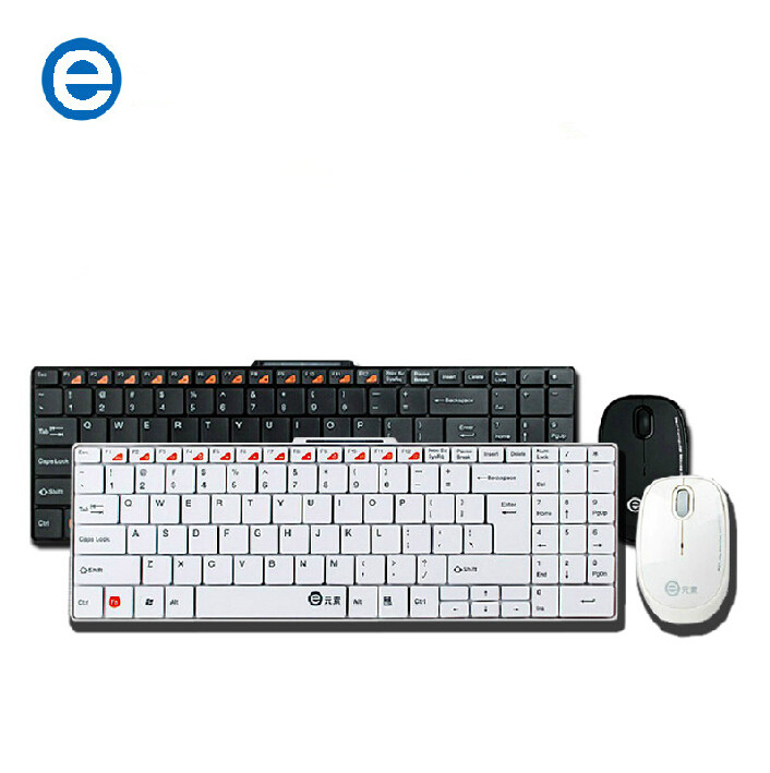 Ultrathin E element E300 2.4G Wireless keyboard and mouse set Russian for dell/Acer/Lenovo/Toshiba/Asus aio desktop laptop(China (Mainland))