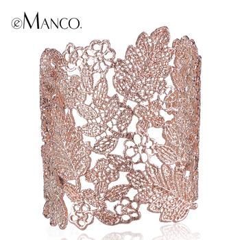 Модный шелк бутона новый простой дизайн резные полые сплава браслет для женщин 2015 ...