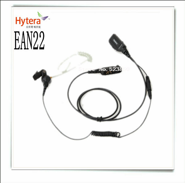 Split type transparent tube headphone EAN22 for X1e and X1p walkie talkie(China (Mainland))