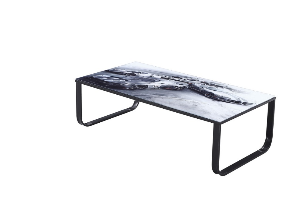 cheap metal base paster tempered glass coffee table in coffee tables from furniture on. Black Bedroom Furniture Sets. Home Design Ideas