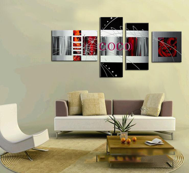Handmade abstract paintings home decor modern and stylish