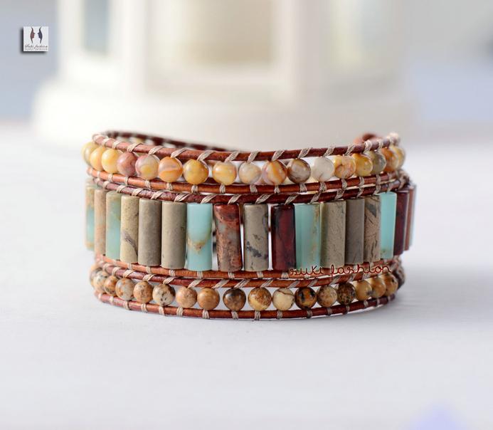 Buy stone bracelet unique tube shape for Unique handmade jewelry wholesale