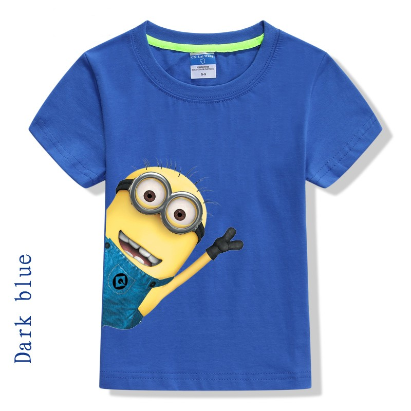 2016 summer new minions boys clothes short sleeve cotton. Black Bedroom Furniture Sets. Home Design Ideas