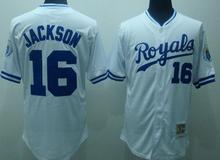 Cheap Men #16 Bo Jackson Kansas Royals Baseball Jersey Embroidery Logos Throwback China Best Quality Authentic Aimee Smith Store(China (Mainland))