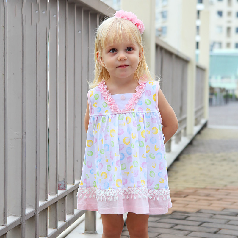 2016 Summer Dress For Girls reine des neiges Baby Girl Clothes Easter Polka Dot Dress For Newborn Baby Girl Party Dress <br><br>Aliexpress