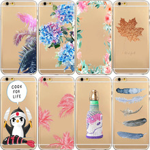 Phone Case For iphone 5 5s 6 6S Plus Cases Vintage Flower Pattern Fashion Luxury Back Cover Bags Silicon TPU Fundas Accessories