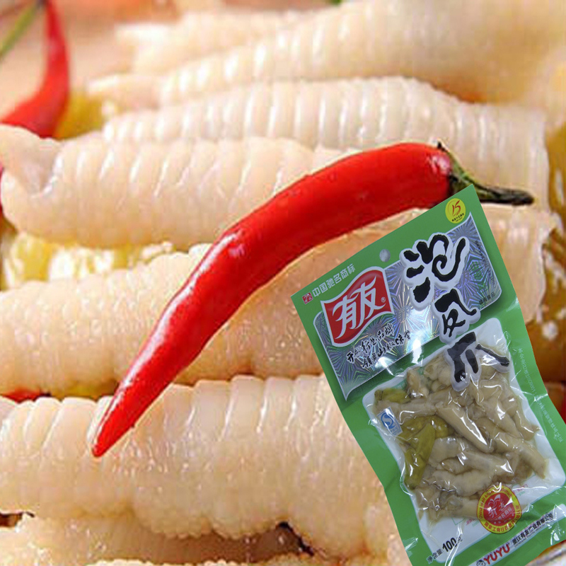 Гаджет  New Delicious Pickle Chicken Legs Chongqing Specialty Chinese Food 100g *2Packs None Еда