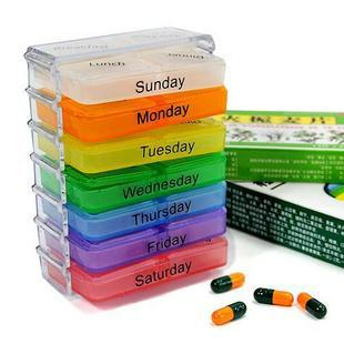 Medicine Weekly Storage Pill 7 Day Tablet Sorter Box Container Case Organizer(China (Mainland))