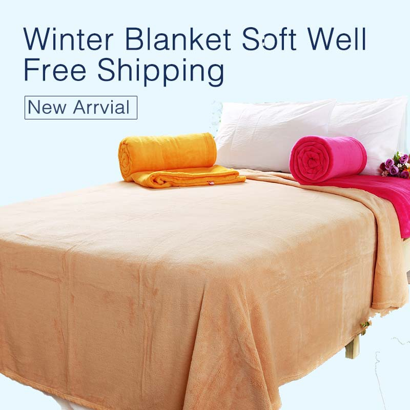 Cozy Microfiber plush Coral Fleece Blankets Bed Knitting Winter Throw plush fleece sheets Bed Sheet,luxurious soft and thicker(China (Mainland))