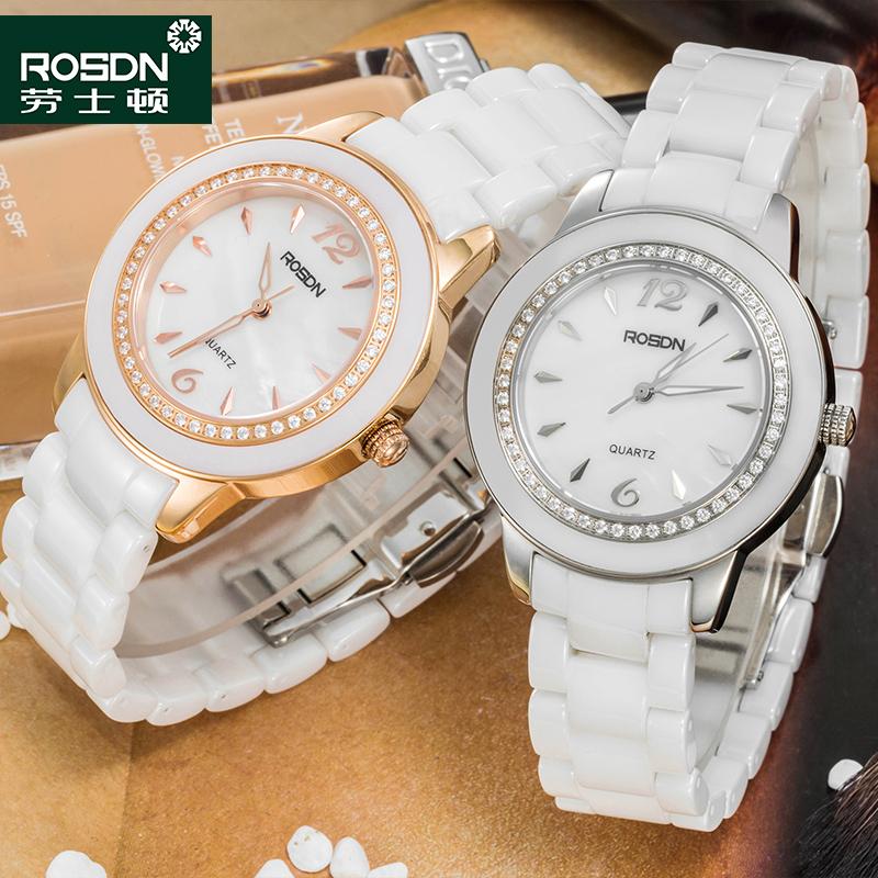 ROSDN 2016 New Watch Women Brand Luxury Fashion Casual Quartz Ceramic Watches Lady Relojes Mujer Women Wristwatches Girl Dress(China (Mainland))