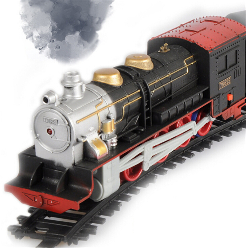 2015 New With Light music model train ho scale 3d puzzle, use AA batteries, shipping without batteries(China (Mainland))