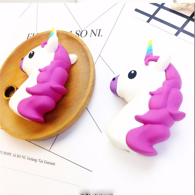 Portable Emoji Powerbank Battery 2600MAH Unicorn Cartoon Design USB Output Charge Mobile Power For IOS Android Phones