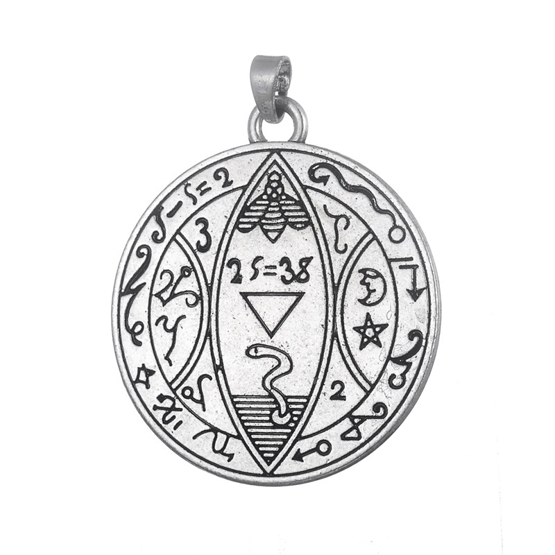 Wholesale 50Pcs/Lot Metal Antique Silver Plated Moon And Stars Ancient Greek Religious Pendants Charms<br><br>Aliexpress