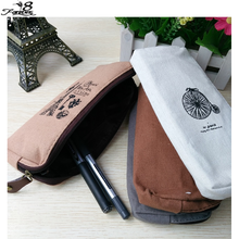 1 x  Unique Retro Canvas Pencil Pen Case Cosmetic Makeup Coin Pouch Zipper Bag Purse bolsa feminina(China (Mainland))