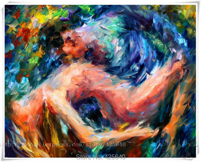 Lovers nude oil painting Sexy wall art oil painting Nude women Oil painting on canvas art hight Quality Hand-painted Painting 11(China (Mainland))