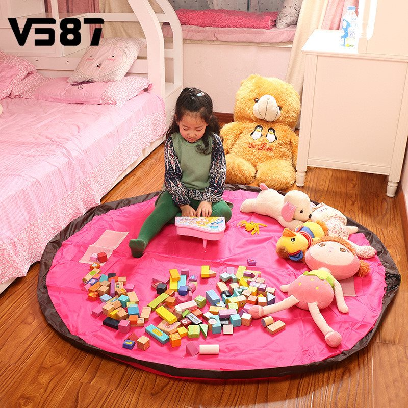 Blanket Polyester Fabric Storage Bag Large Toy Bags Can Be Used When The Carpet Bags For Kids Toy Family Picnic(China (Mainland))