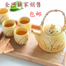 Japanese style to endulge at home daily use lusterware beam pot tea set