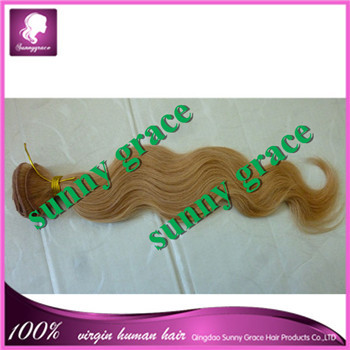 8a Sunny Grace Hair unprocessed bleached knots body wave Eurasian virgin hair extension in stock(China (Mainland))