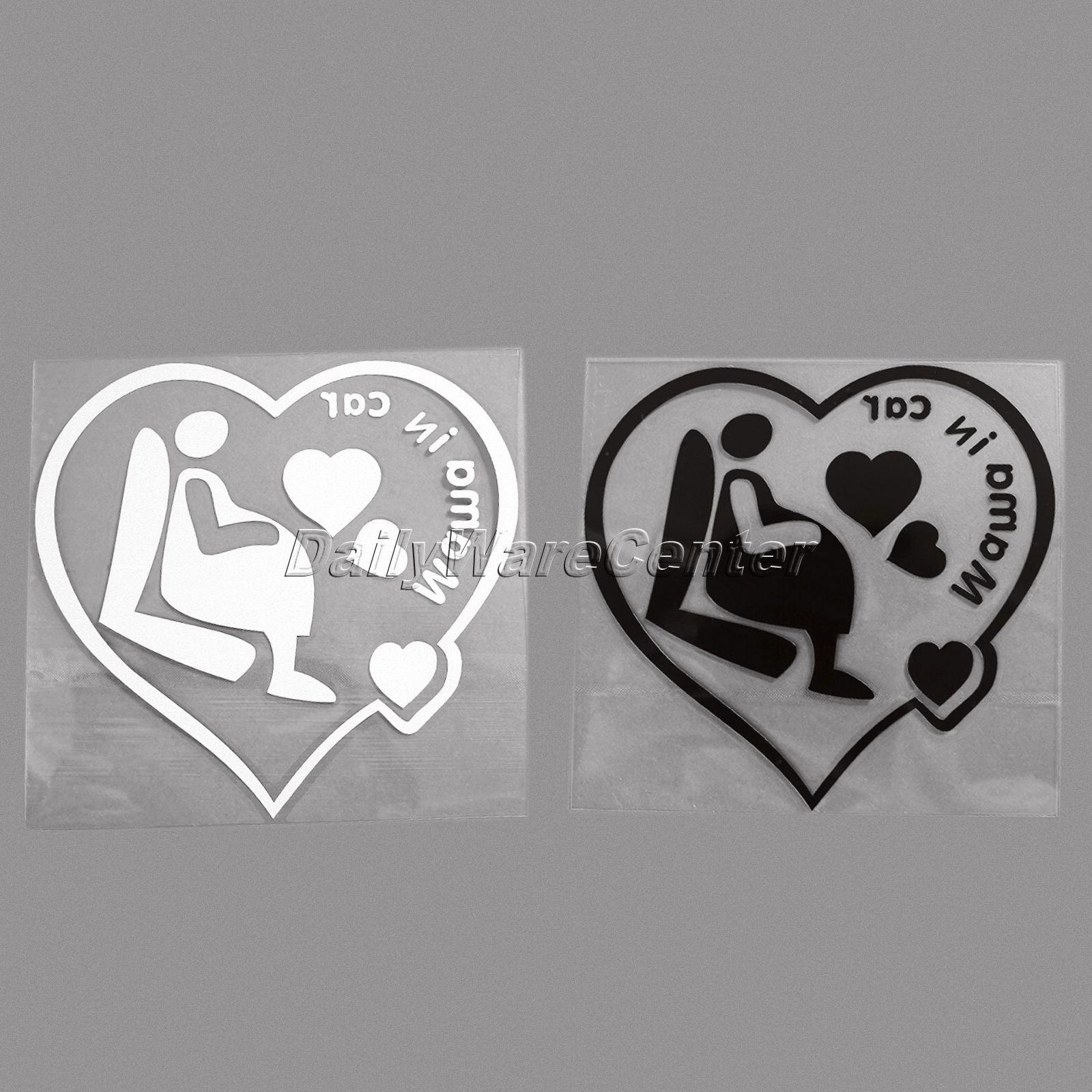 Design your car sticker - Mama In Car Pregnant Women Funny Car Sticker Vinyl Safety Warn Styling Reflective Decal For Car Rear Windshield Stickers On Cars