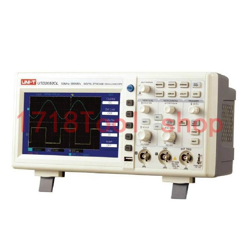 50MHz Dual Channels 400X240 7 inches LCD Print Screen USB Multilingual Menu 28 Waveform Digital Storage