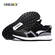 Onemix Free Ship Man Running Shoes For Men Olympic Athletic Trainers Black White Zapatillas Sports Shoe Outdoor Walking Sneakers