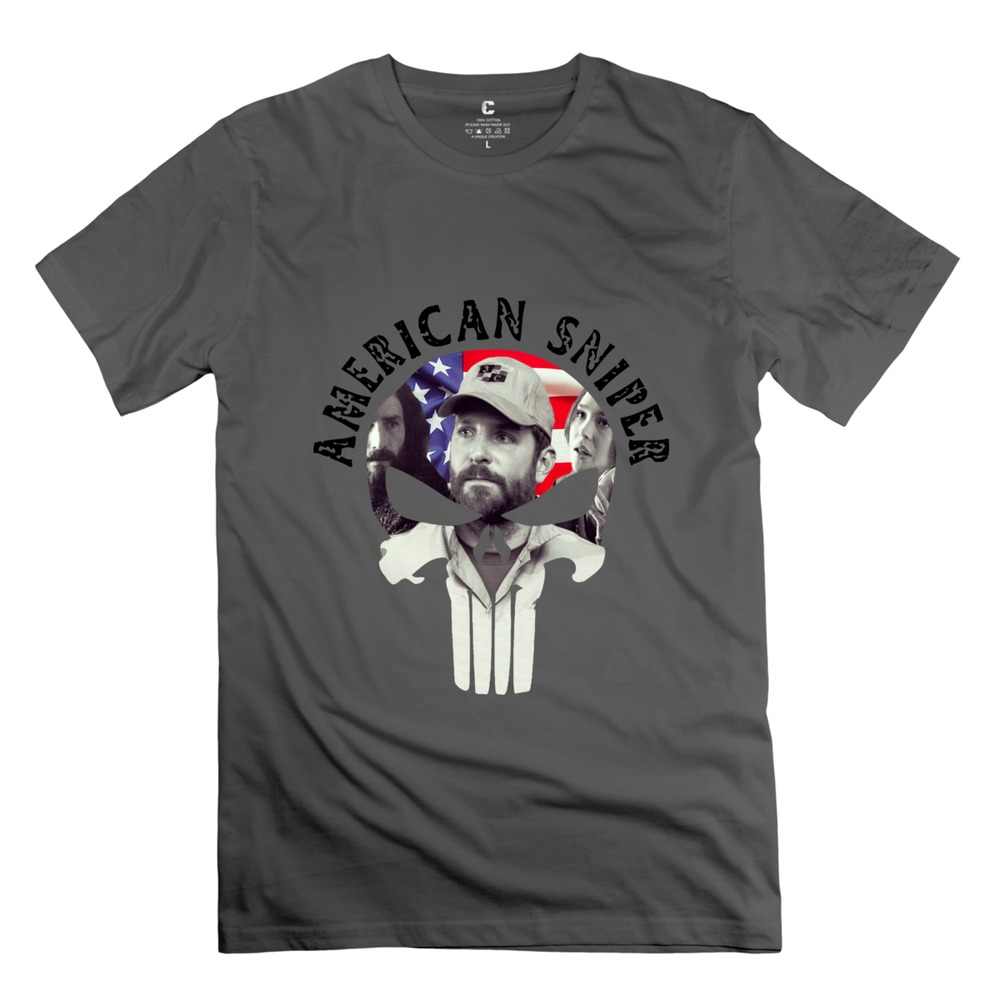New 2015 American Sniper Chris Kyle Men Tee Customized O