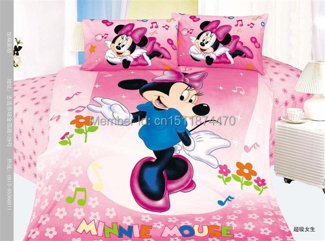 Mickey Mouse kids cartoon bedding-active position three sets of bedding,cotton 100% cotton / quilt / quilt bed linen sets(China (Mainland))