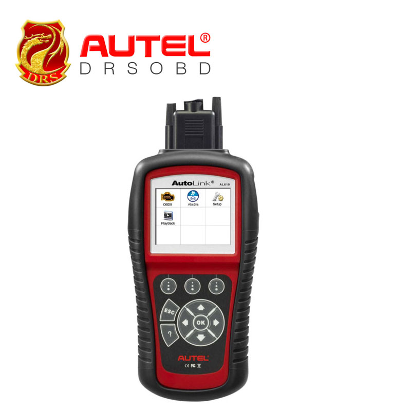Original Autel AutoLink AL619 OBDII CAN ABS & SRS Diagnositc Scan Tool Diagnoses and erases ABS/SRS codes free online update(China (Mainland))