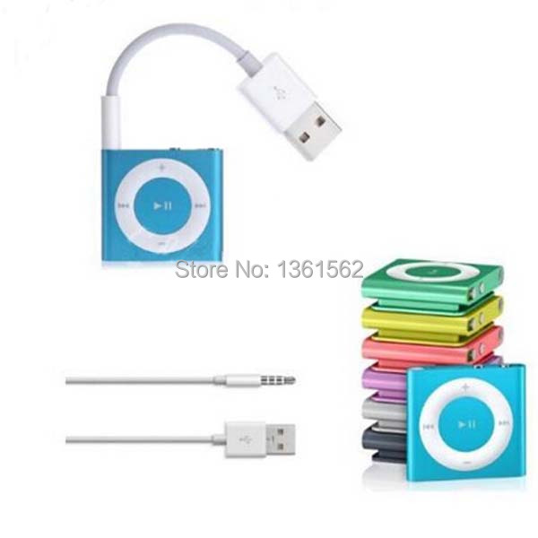 3.5mm USB 2.0 Charger SYNC Cable M to M Audio Headphone Jack Cord 10cm New for Apple ipod shuffle 3rd 4th 5th 6th Gen White 0Apl(China (Mainland))