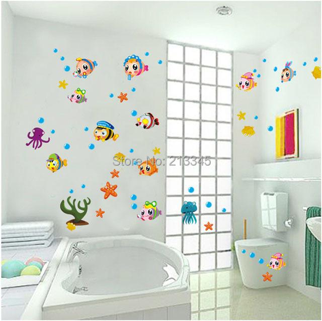 Achetez en gros enfants salle de bains carrelage en ligne - Stickers salle de bain enfant ...